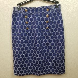 Antonio Melani Polka Dot Embroidered Pencil Skirt